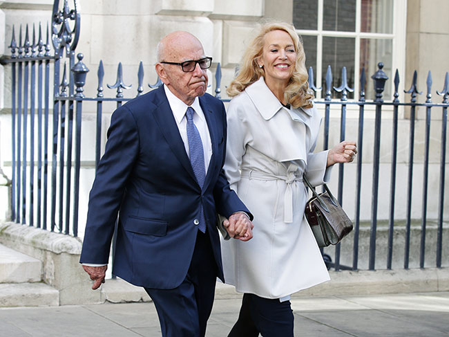 Jerry Hall and Rupert Murdoch marry in low-key civil ...