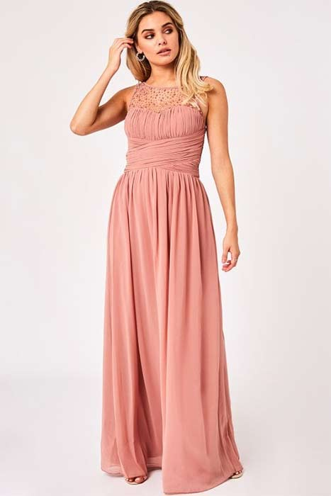 Little-Mistress-peach-bridesmaid-dress