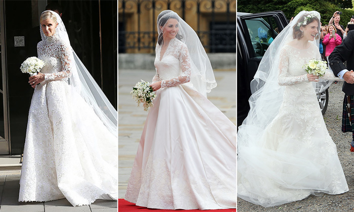 7 celebrity brides inspired by Kate Middleton's wedding dress
