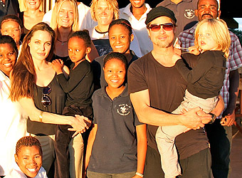 Brad Pitt and Angelina Jolie back in Namibia for new wildlife mission