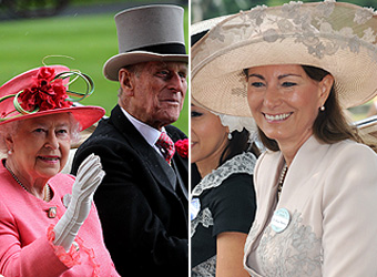By royal invitation: Carole Middleton is the Queen's guest at Ascot