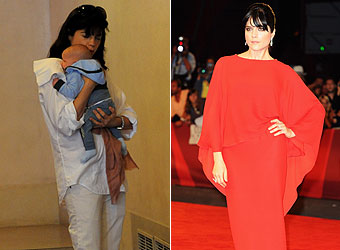 Selma Blair joins the yummy mummy brigade by taking baby Arthur on tour