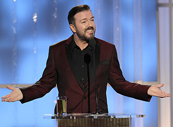 Ricky Gervais says 'never again' to hosting Golden Globes