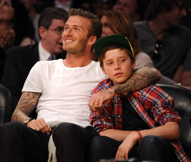 Dave White Acura Used Cars: David Beckham And Son Brooklyn Left Unharmed After Car