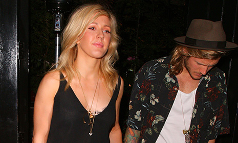 Ellie Goulding and Dougie Poynter enjoy a rare date night at London's trendiest restaurant