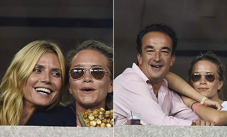 Fashion icons Mary-Kate Olsen and Heidi laugh through the US Open