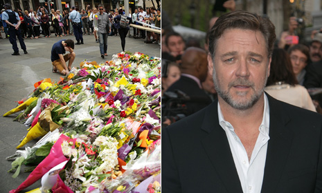 Russell Crowe and Hugh Jackman lead prayers for Sydney after siege