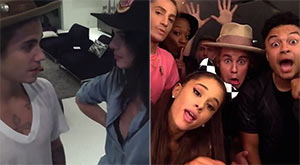 Justin Bieber, Kendall Jenner and Ariana Grande lip-sync Carly Rae Jepsen's new song