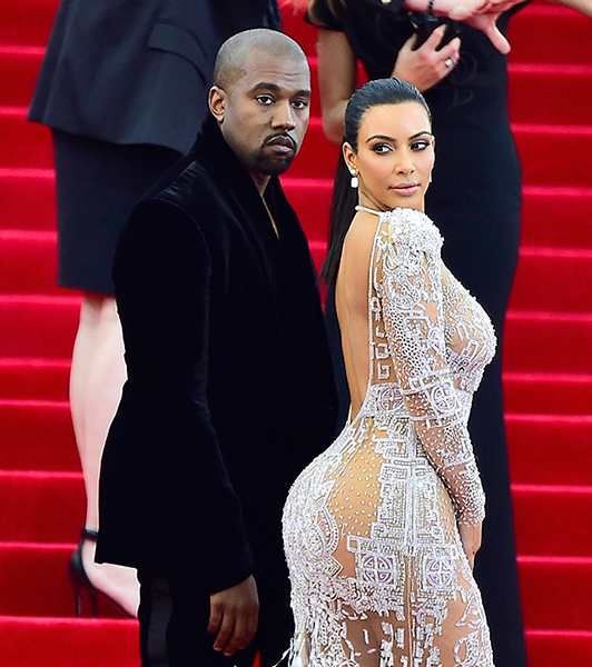Kim and Kanye on the Red Carpet