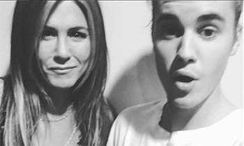 Justin Bieber shares selfie with unlikely friend Jennifer Aniston