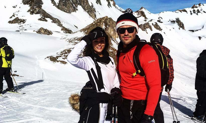 Mark Wright and Michelle Keegan look ice cool on adrenaline-filled ski holiday