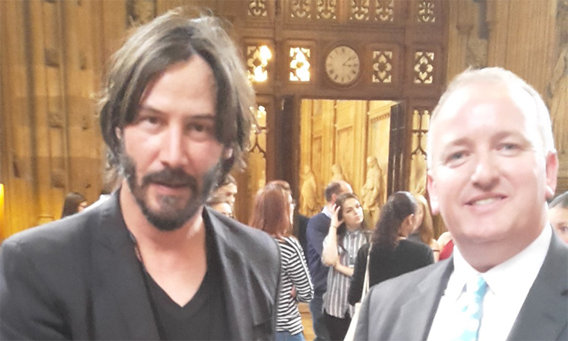Keanu Reeves turns up at Parliament and everyone is wondering why...