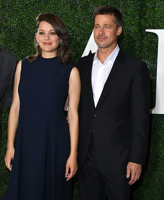 Brad Pitt and Marion Cotillard at Allied premiere