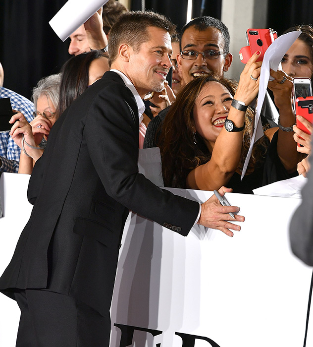 Brad Pitt makes first red carpet appearance since split from Angelina Jolie at Allied premiere