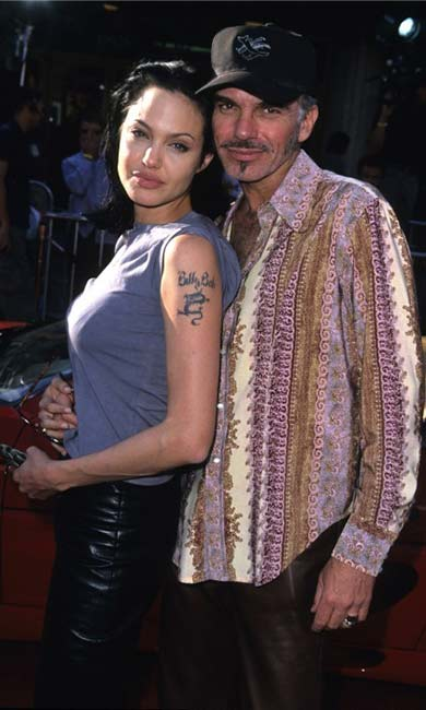 Billy Bob Thornton and Angelina Jolie when they were dating