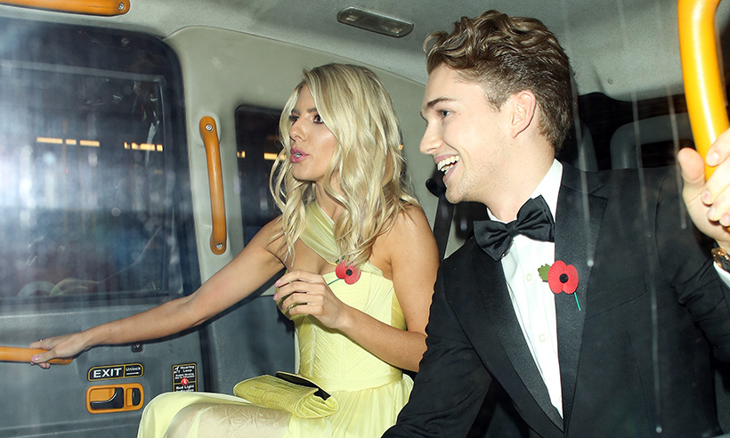 Mollie King joins Strictlys AJ Pritchard on stage for