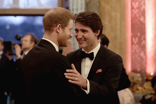 Justin Trudeau and Prince  Harry