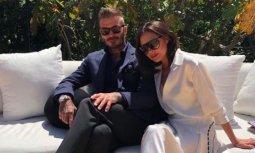 David Beckham Whisks Wife Victoria Away For Their 19th
