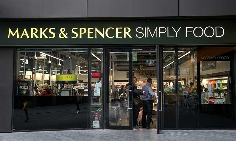 A typical Marks & Spencer shopping list includes beverages, confectionery and snacks, biscuits, savouries, cakes, conserves and spreads, cereals and porridge, condiments and sauces, pickles and chutneys, tinned food, marinades, pasta, rice and noodles.