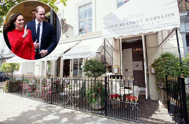 The restaurants loved by Prince William and Kate, Holly Willoughby and more