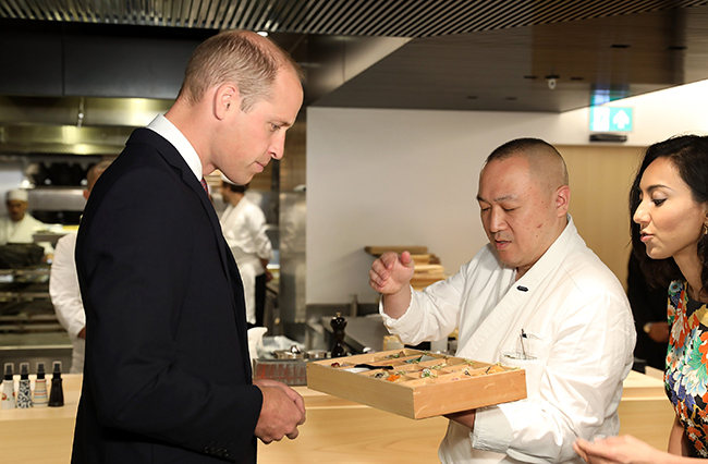 prince-william-visits-japan-house-sushi