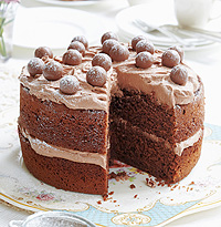 mary berry 39 s malted chocolate cake recipe. Black Bedroom Furniture Sets. Home Design Ideas