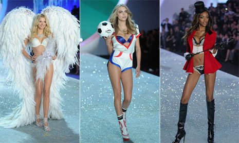 British Invasion: Cara Delevingne, Jourdan Dunn and Lily Donaldson take Victoria's Secret show by storm