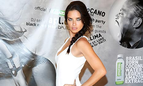 Adriana Lima gets into World Cup spirit by celebrating Brazil