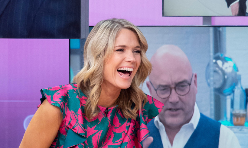 Charlotte Hawkins just nailed transitional dressing in this pretty palm leaf dress