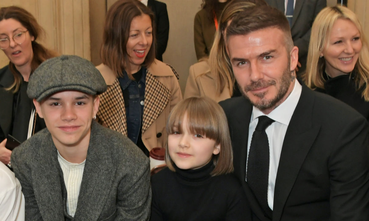 harper beckham twins with this fashion icon at victoria