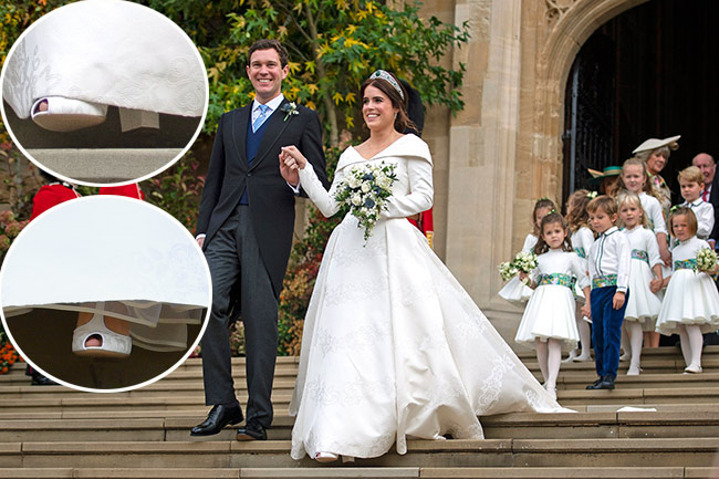 princess eugenie wedding shoes