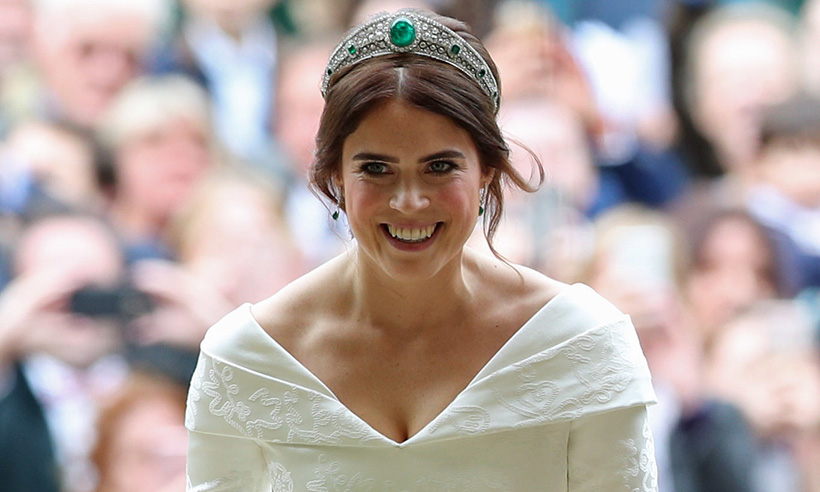 princess eugenie on wedding day
