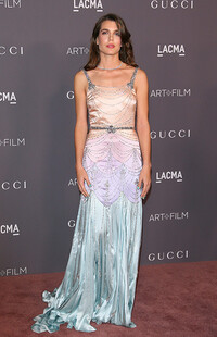 charlotte casiraghi wearing a gucci dress