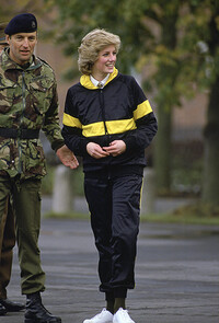 Princess Diana wearing a tracksuit