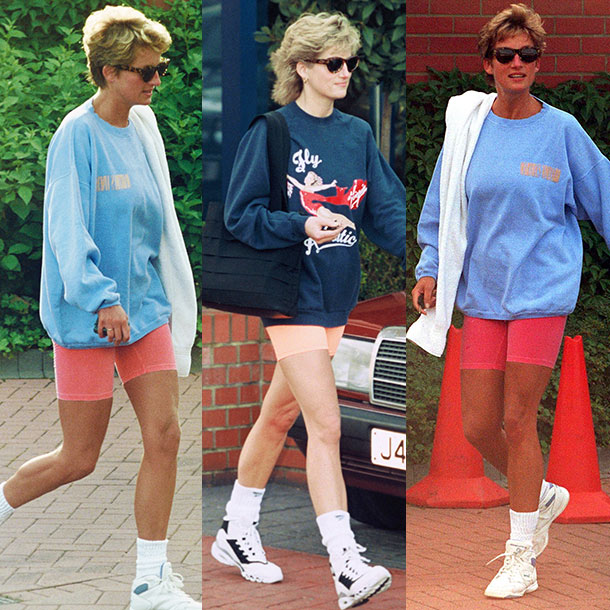 5 times Princess Diana gave us gym kit inspiration