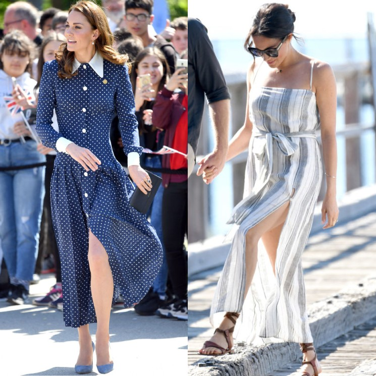 13 royal ladies who dared to bare in split-leg dresses! From Duchesses Kate and Meghan to Princess Beatrice