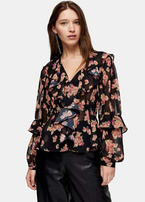 Topshop sleeve blouse