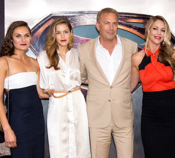 Kevin Costner And His Family Attend Star Studded Man Of