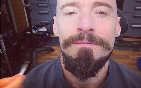 Hugh Jackman unveils shaved head for new film Pan