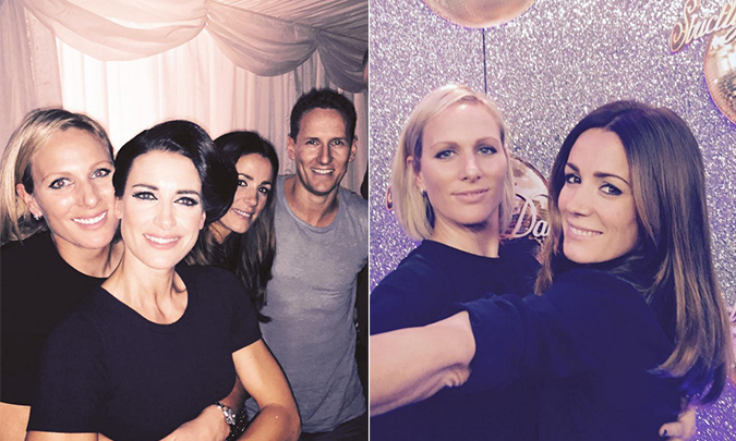 Kirsty Gallacher supported by close friend Zara Tindall at Strictly