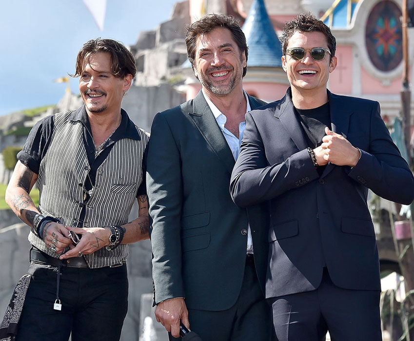 Johnny Depp and Orlando Bloom surprise Pirates of the Caribbean fans ... Javier Bardem