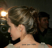 angelina jolie know your rights tattoo