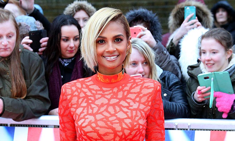 Alesha Dixon has gone for a very dramatic new hair colour...
