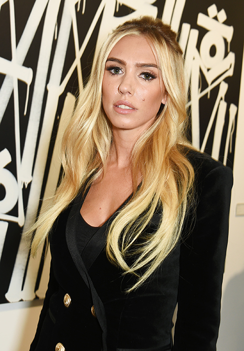Petra Stunt Debuts Platinum Blonde Hair On Night Out With