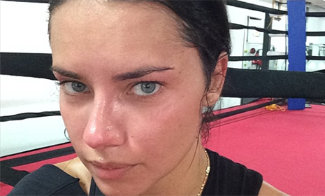 'Getting ready for 2014!': VS angel Adriana Lima is back in the gym
