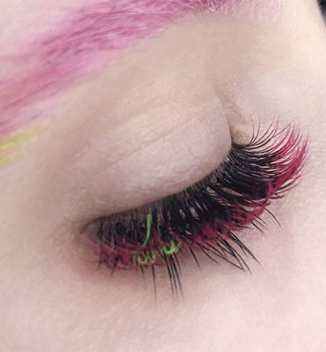 ombre-lashes-red