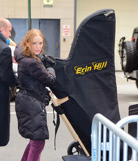 erin hill arrives at the mark hotel