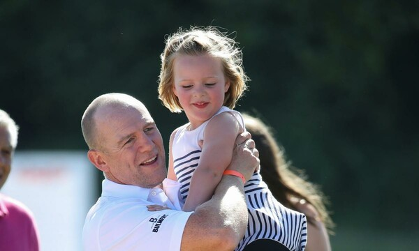 Mike and Zara Tindall's children play outside in family's ...