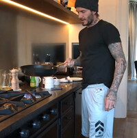 David Beckham kitchen