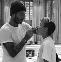 David-Beckham-son-shaving